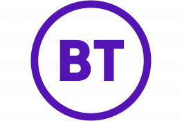 The BT plc logo - purple 'BT' text in the middle of a purple circle
