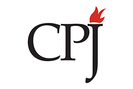 The Committee to Protect Journalists logo - black 'CPJ' text with a flame rising from the top of the 'J'